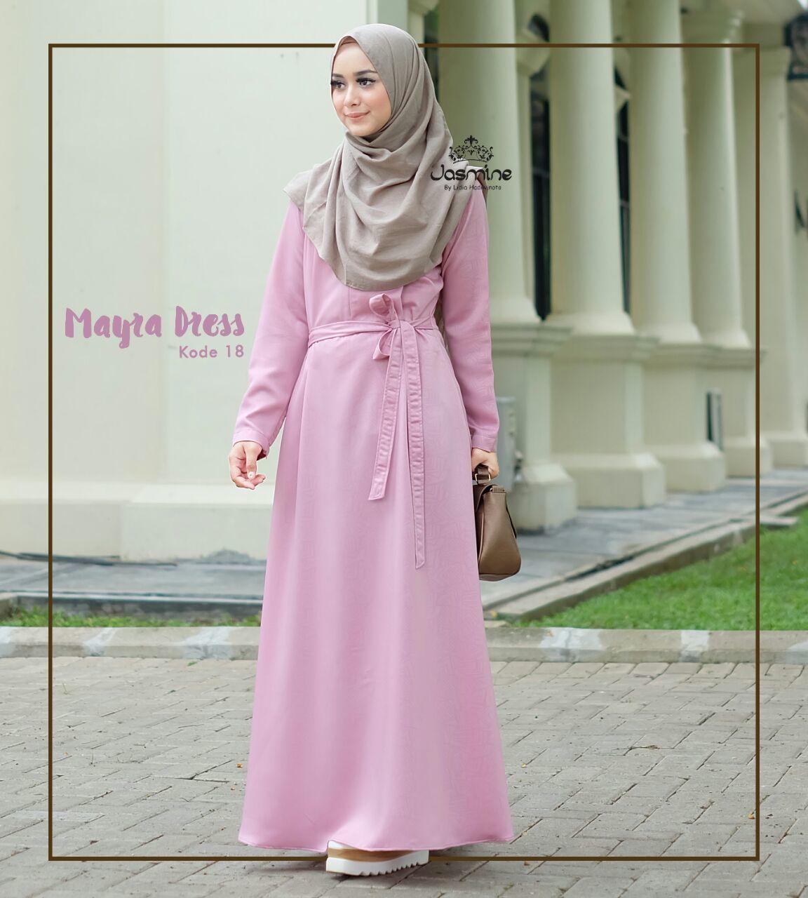 Gamis Jasmine Mayra Dress 18 Baju Gamis Wanita Busana Muslim