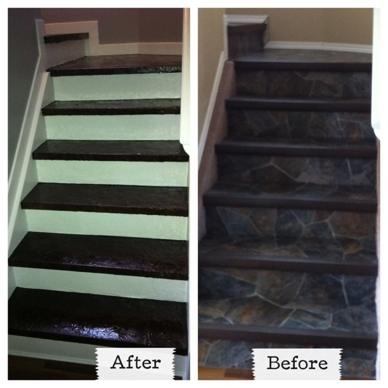 Plywood And Particle Board Stairs  From Lino With Carpet To Stained Brown  Paper And White