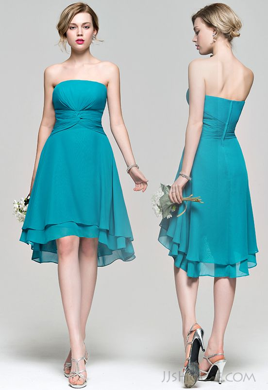 Asymmetrical jade bridesmaid dress,this color is so perfect for ...
