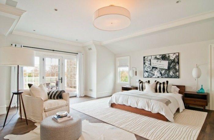 schlafzimmer teppich richtig aussuchen Einrichtungsideen