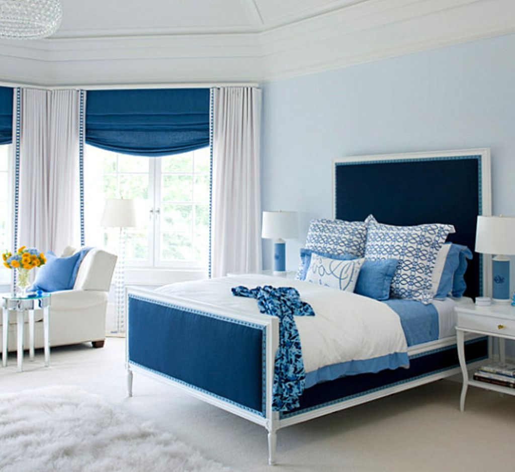 Blue Bedroom Ideas For Women The Blending Of Minimalist And Bold Colors