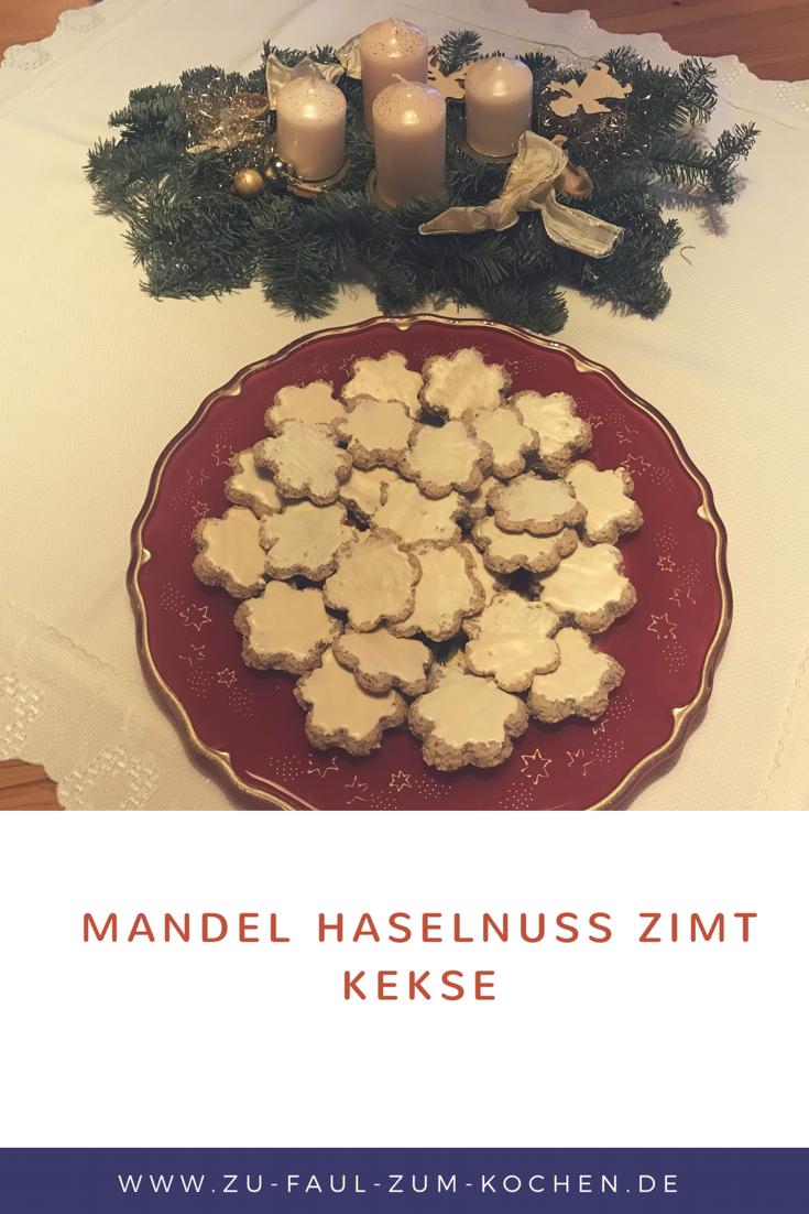Mandel Haselnuss Zimt Kekse  Habt alle eine schöne Vorweihnachtszeit ☺️ Passend zum 1 Advent habe ich für euch ein leckeres Weihnachtsgebäck Rezept Mandel Haselnuss Zimt Kekse!