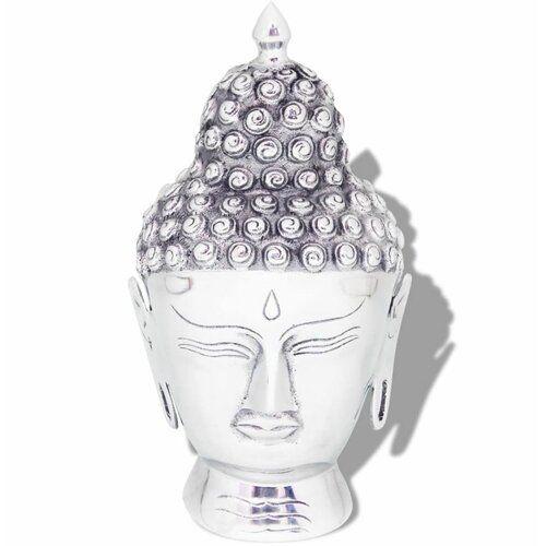 Buddha Head Aluminium Bust World Menagerie #buddhadecor