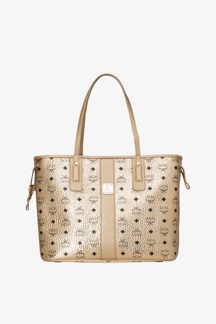 Mcm Wendeshopper Liz Medium Mit Pouch gold in 2020