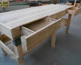 Tavolo per cucina e bar realizzato con legno da vecchi pallets ...