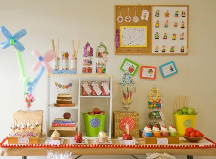 Clown School Dessert Table by Home Made Parties