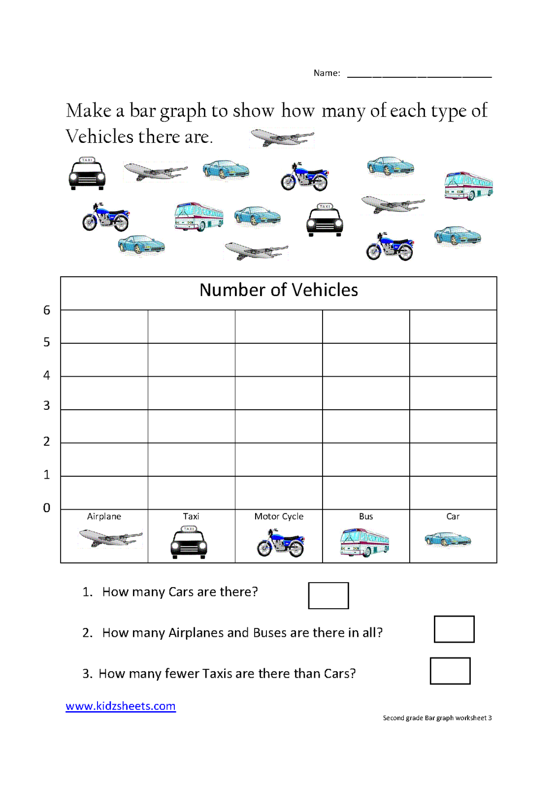 Second Grade Bar Graph Worksheet3