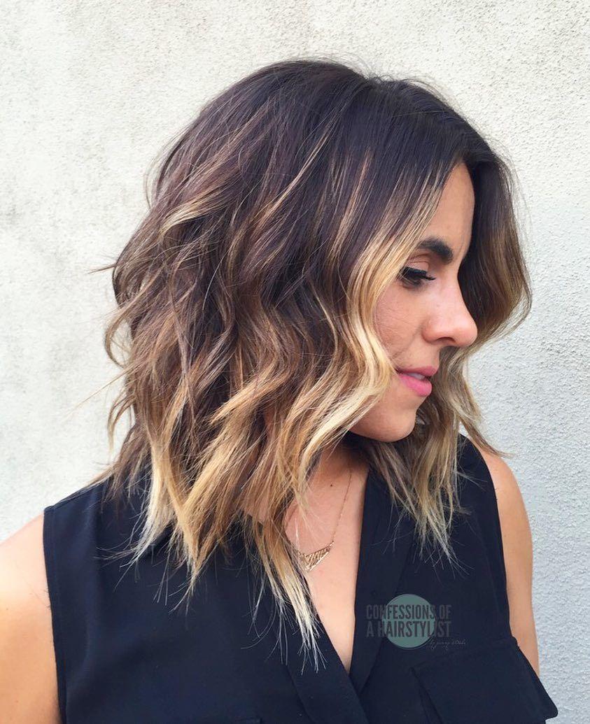 Beste Wellige Schulterlange Frisuren Mittel Haarschnitt Ideen Fur
