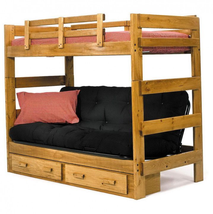 99 Wooden Bunk Bed With Futon On Bottom Organizing Ideas For