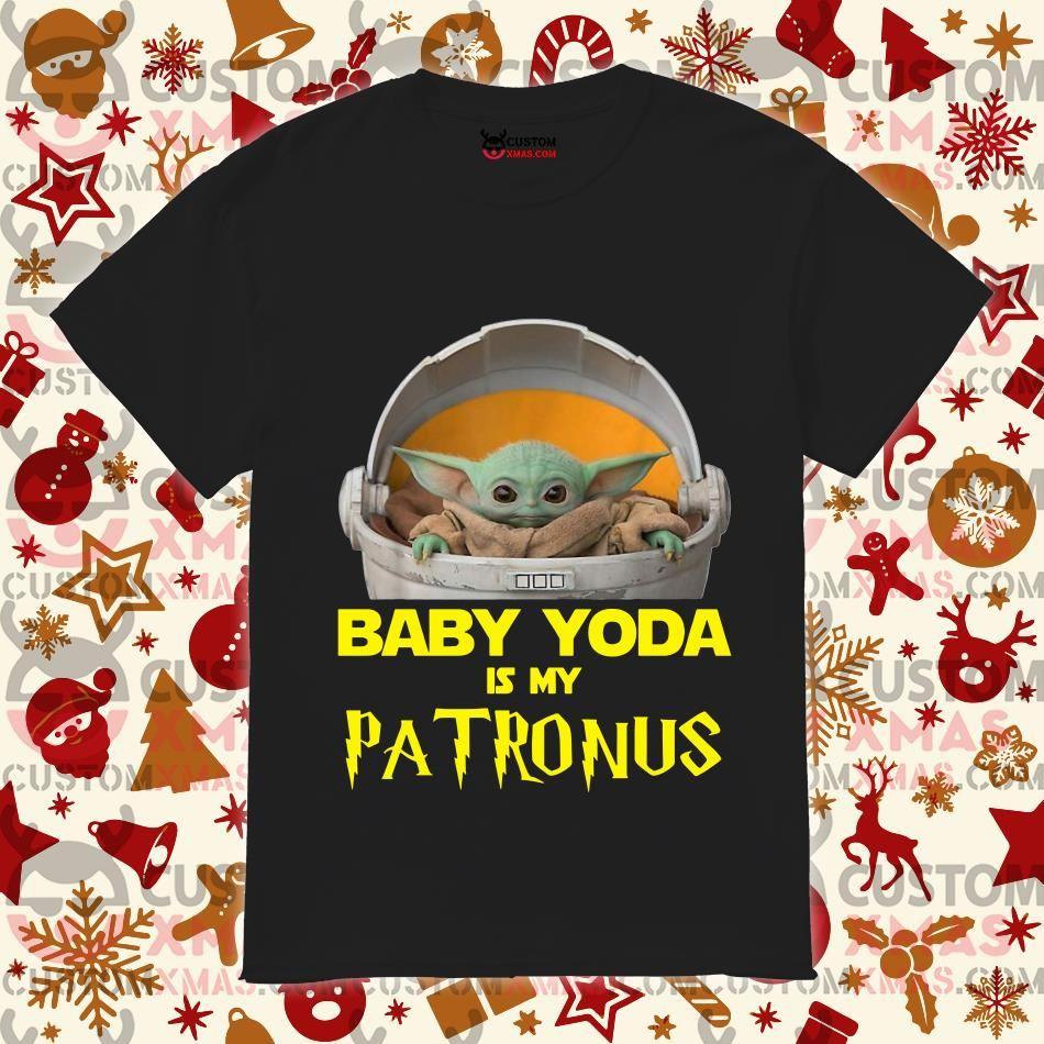 Baby Yoda Is My Patronus Shirt Customxmas Yoda Yoda Meme Yoda Shirt
