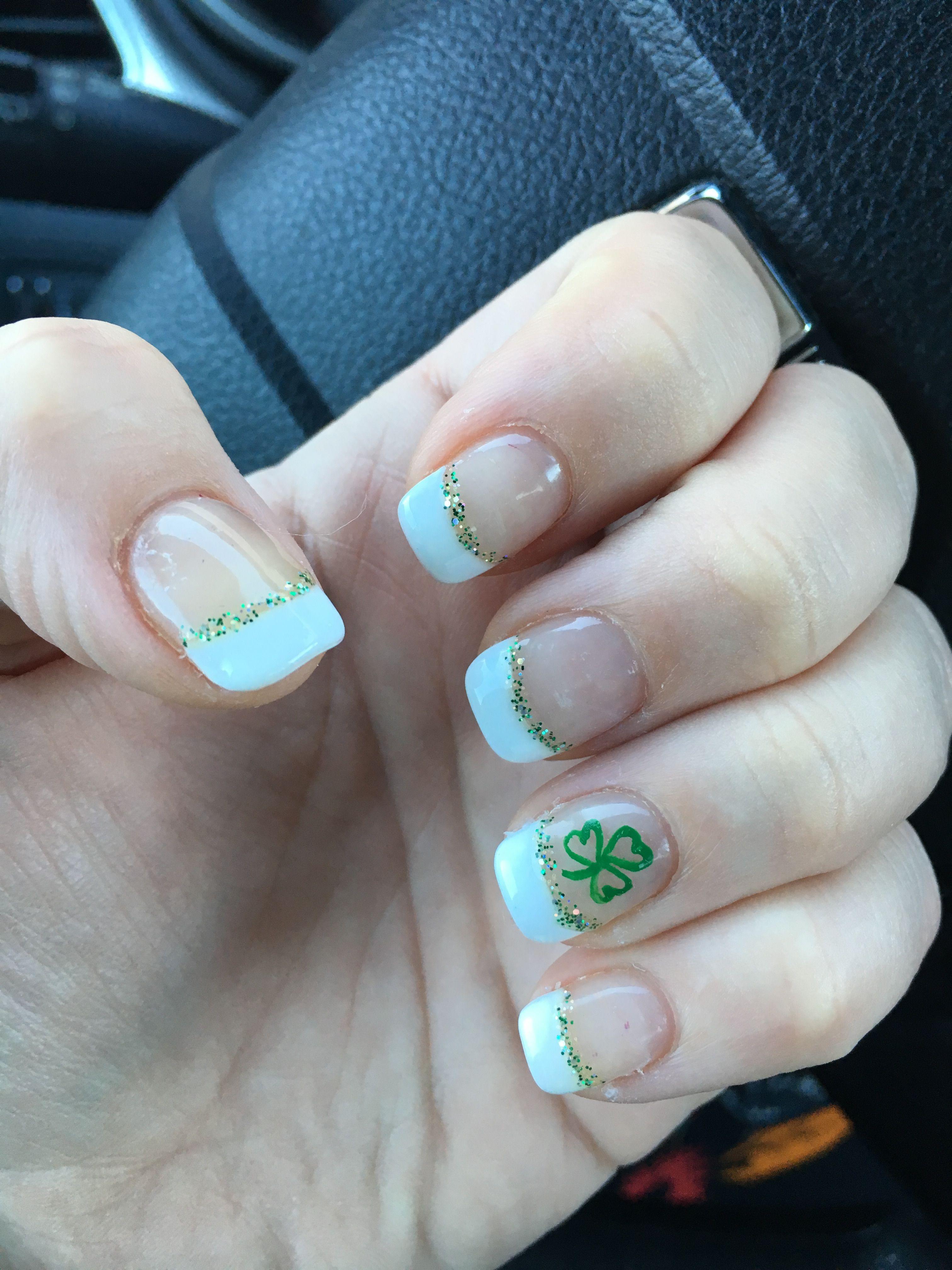 My St Patrick\'s day nails | Nails | Pinterest | Green nail, Acrylic ...