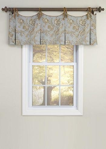 Scalloped Tie Top Valance | Curtains | Pinterest | Vorhänge und Nähen