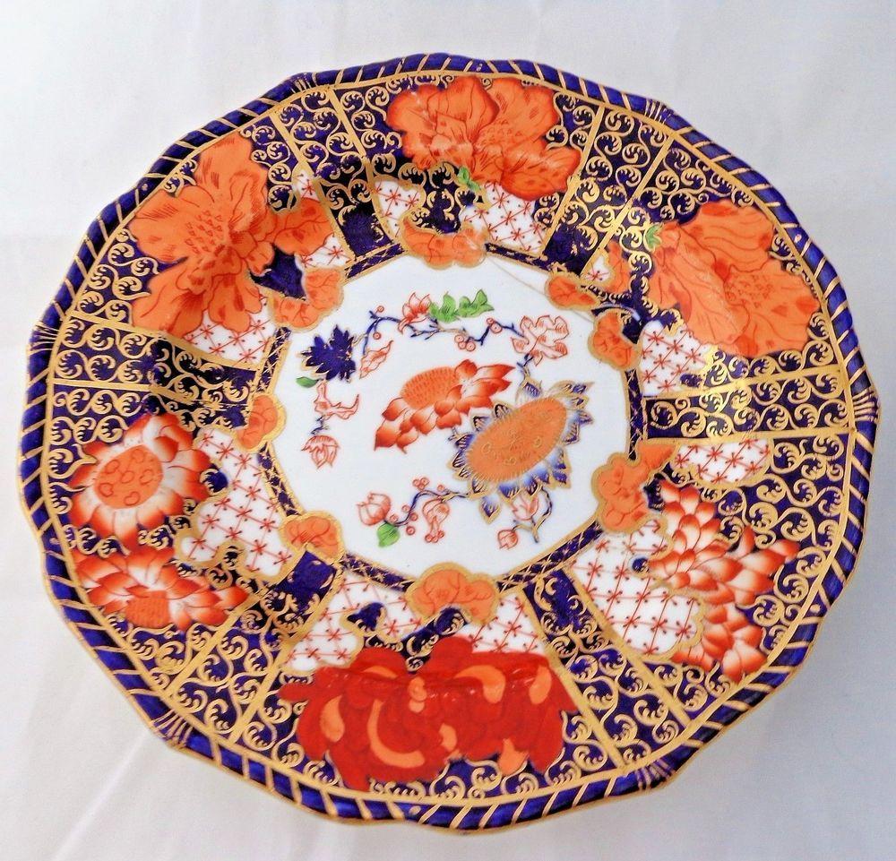 Antique Crown Derby Porcelain Painted Imari Plate Pattern 2283 Make Do C 1881 Victorian Dessertplatecabinetplate Cro Porcelain Painting Antique Plates Imari