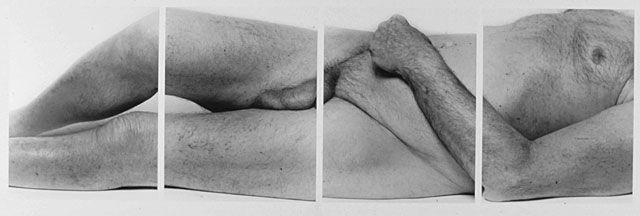 John Coplans _ Self Portrait, Reclining Body, No 3, 2000, silver gelatin print, 91.5 x 216 cm, Edition 1/6