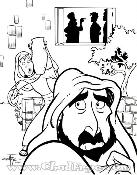 Peter Denies Jesus coloring page | Childrens bible study ...