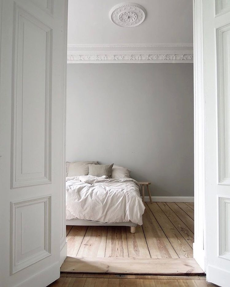 Grey Bedroom Walls - Farrow & Ball Pavilion Gray