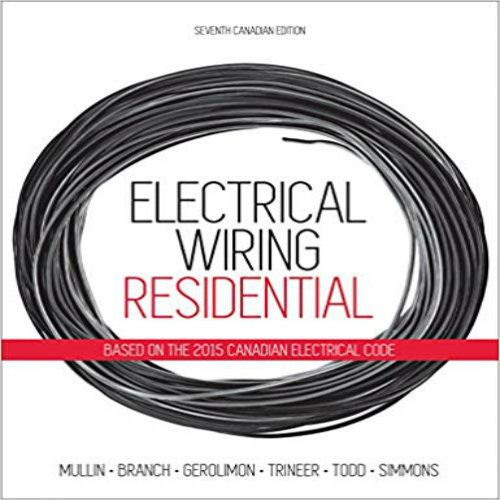 Outstanding Solution Manual For Electrical Wiring Residential Canadian 7Th Wiring Cloud Hisonuggs Outletorg