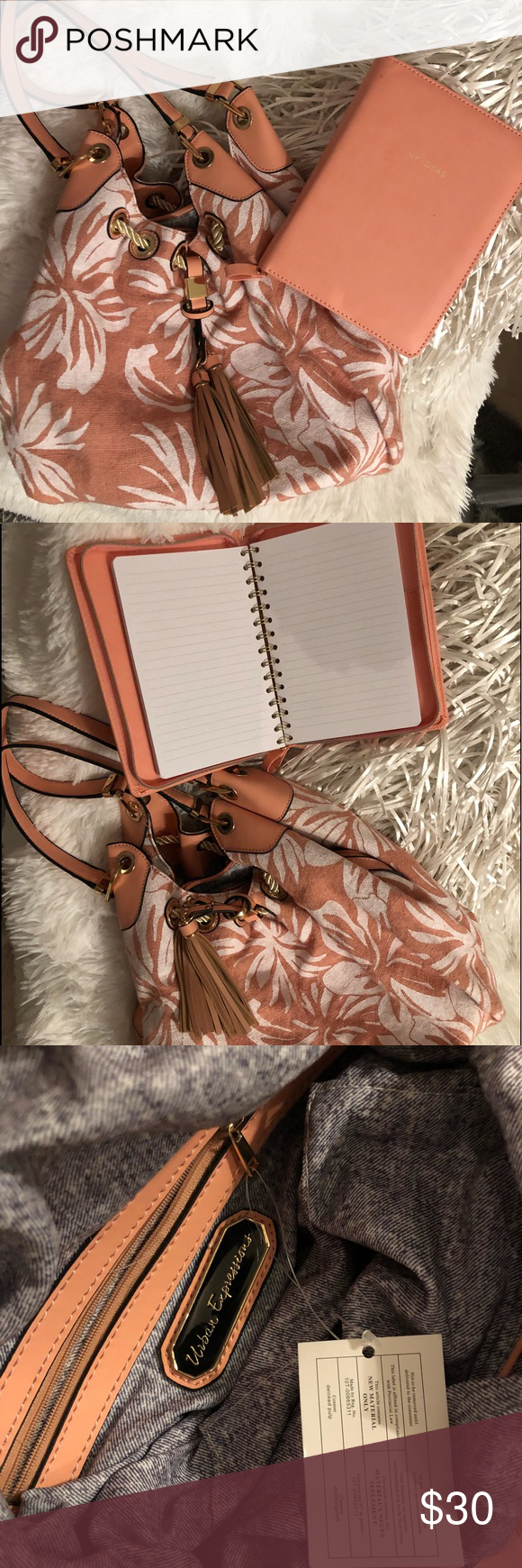 Handbag and journal set (Urban Expression Vegan) NWT (With
