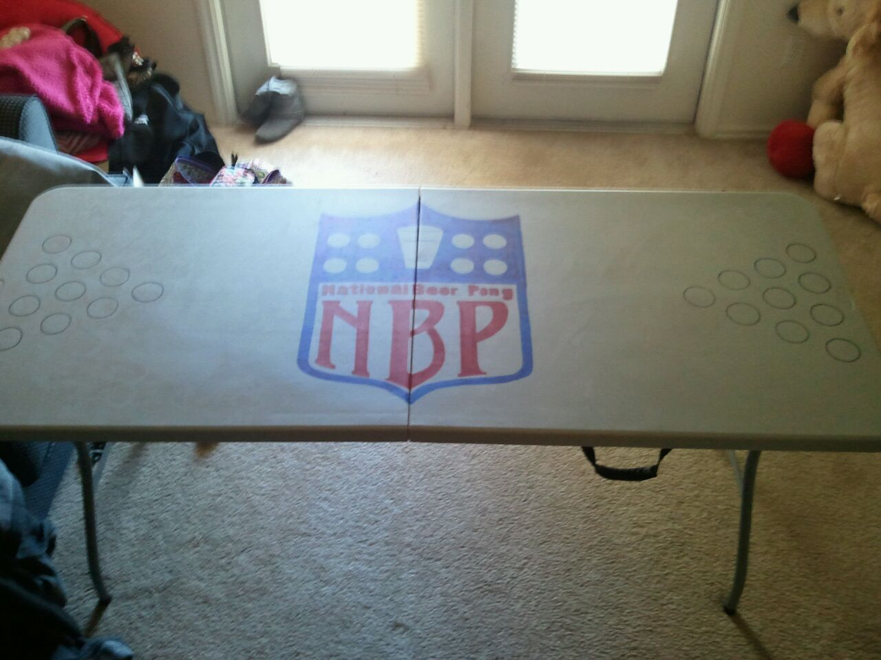 Homemade beer pong table - Nbp National Beer Pong Homemade Beer Pong Table