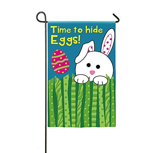 Time To Hide Eggs Easter Bunny Applique Garden Flag *** Click on the image for additional details.