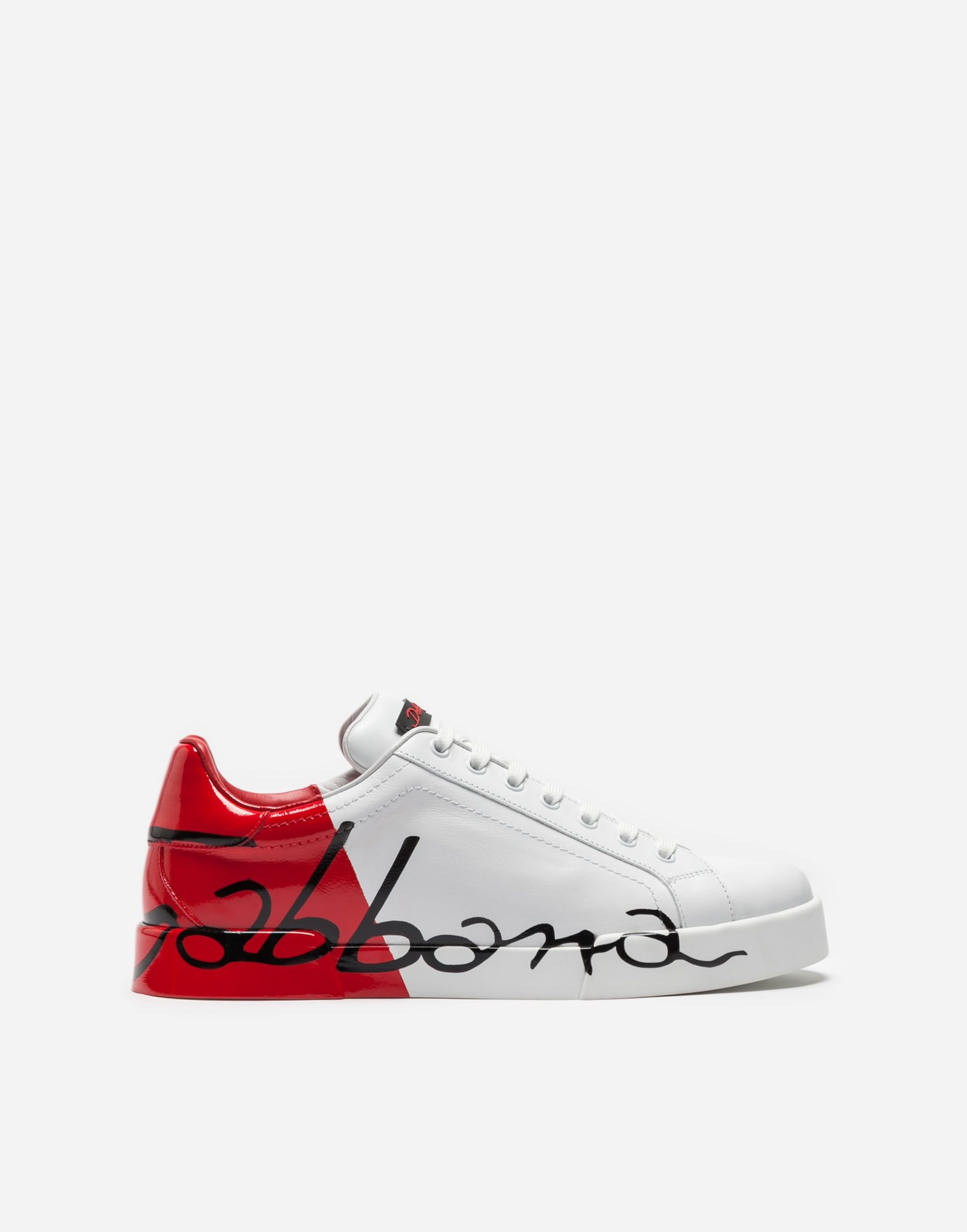 5d79c00853930 DOLCE   GABBANA PORTOFINO SNEAKERS IN LEATHER AND PATENT.  dolcegabbana   shoes