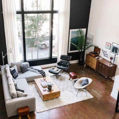 10x Interieurs In Mid Century Moderne Stijl Etsy FurnitureWindow FurnitureMid Modern Living RoomModern RoomsIndustrial