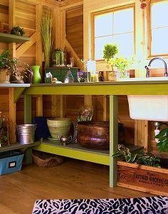 Potting Shed With Artistic Details And Recycled Details Garden Shed Interiors Shed Interior Potting Shed Interior Ideas