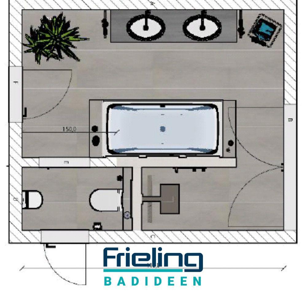Das Moderne Bad Mit T Losung Grundriss Bad Grundriss Walk In Dusche Moderne Bader