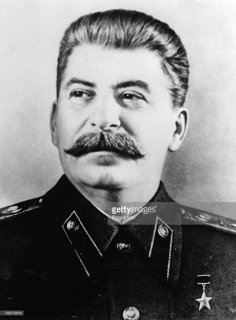 A Portrait of Soviet communist leader Josef Stalin