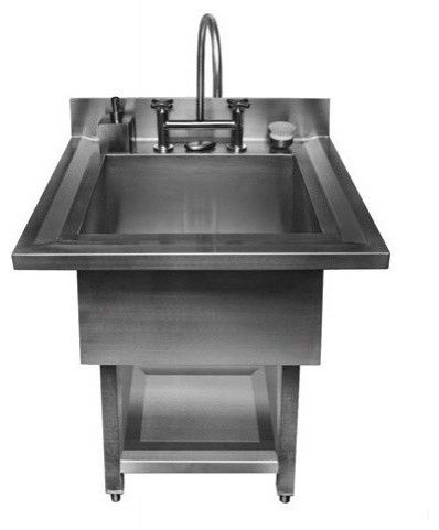 Free Standing Stainless Steel Laundry Sink Stainless Steel