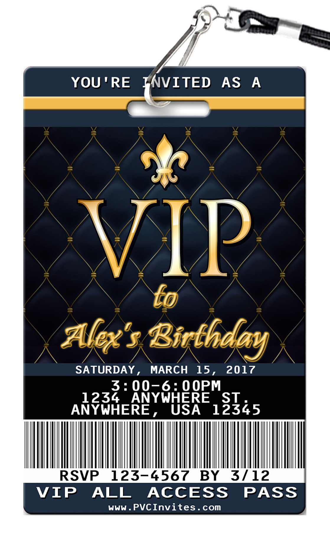 Vip Birthday Invitation Diy Birthday Invitations 21st Birthday