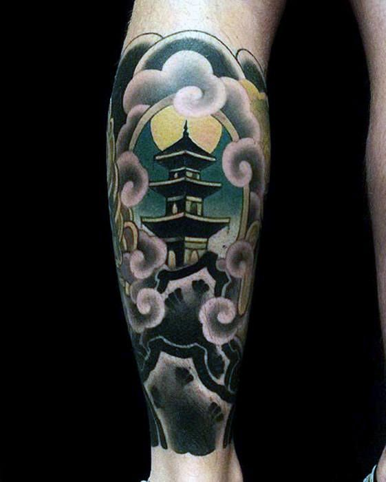 50 Japanese Temple Tattoo Designs For Men Buddhist Ink Ideas Tattoos For Guys Temple Tattoo Japanese Temple Tattoo