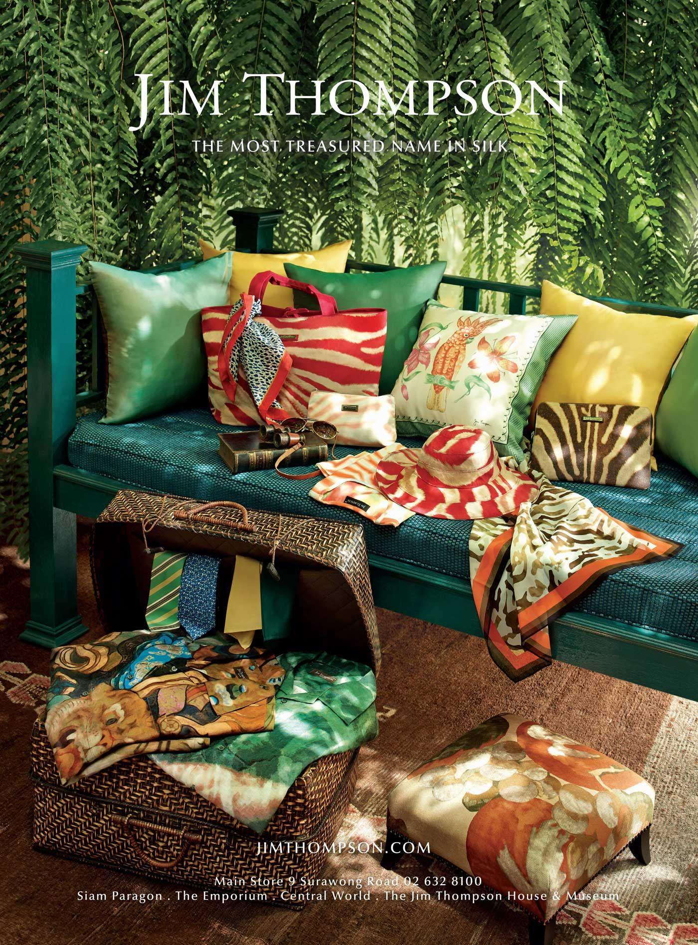 Jim Thompson Thailand Advertising Campaign Fabrics
