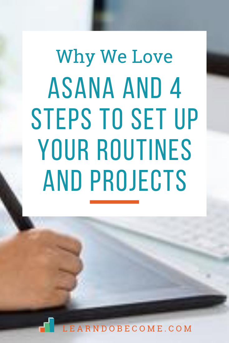 Do you have a hard time keeping up with all of the projects and to-dos on your list? Click here to learn about our secret weapon for keeping all our projects organized and keeping track of what has been done. #asana #organization #homemanagement