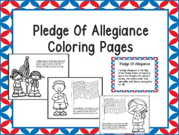 Free Pledge Of Allegiance Coloring Pages Kindnessnation Pledge
