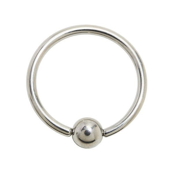 14g 5 8 Anium Captive Hoop Hot Topic 15 Liked On Polyvore Featuring Jewelry Earrings