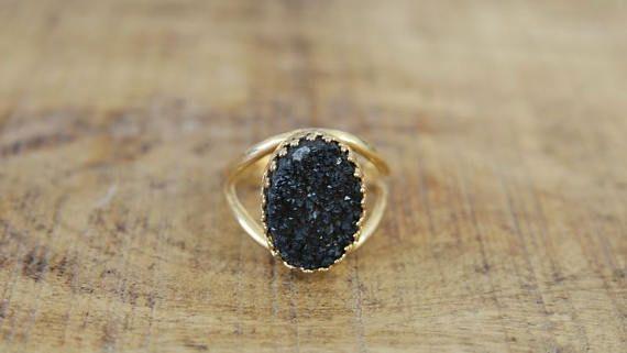 Gold Stone Ring Big Stone Ring Womens Jewelry Handmade Etsy Big Stone Ring Unique Rings Stone Rings