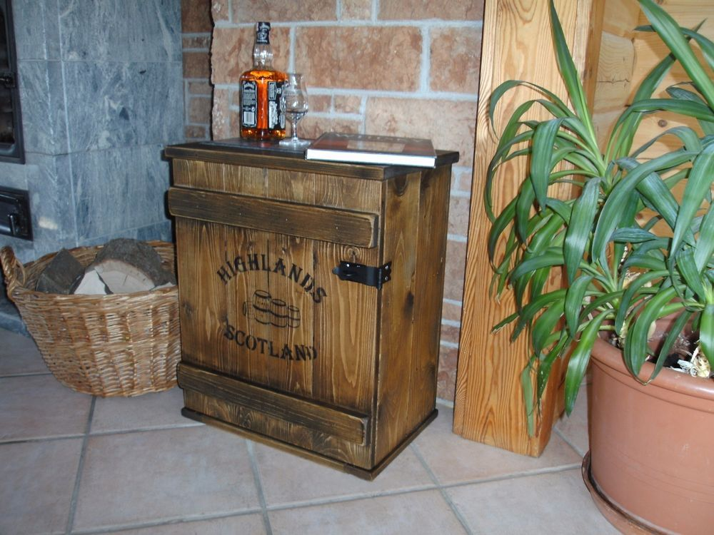 bar whiskey frachtkiste single malt shabby vintage schrank whisky landhaus retro wooden boxes. Black Bedroom Furniture Sets. Home Design Ideas