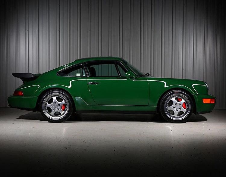 Porsche 964 turbo irish green | Beauty On Wheels | Porsche ...