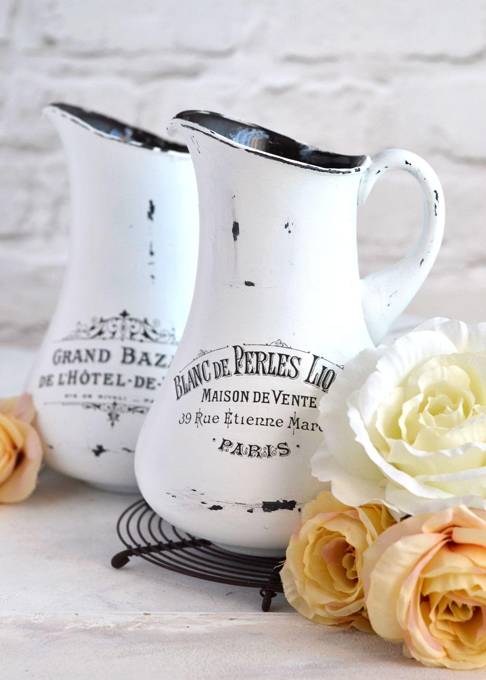 Diy aged french pitchers free printable diy free