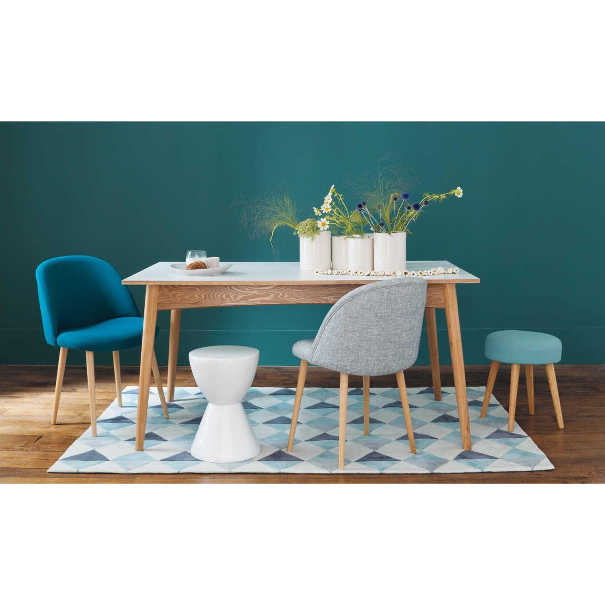 Tapis à poils courts bleu 140 x 200 cm | Chaise vintage, Gris ...