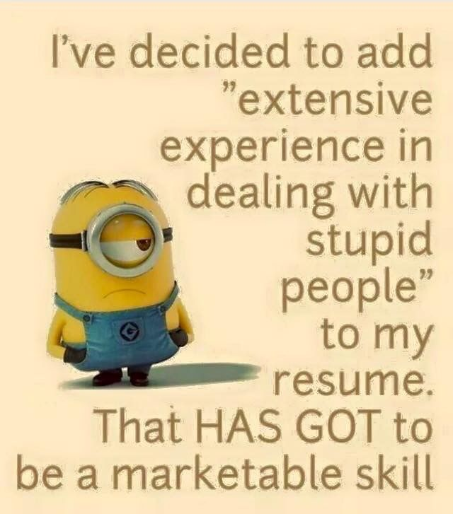 i u0026 39 ve decided to add  u0026quot extensive experience in dealing with stupid people u0026quot  to my resume  that has