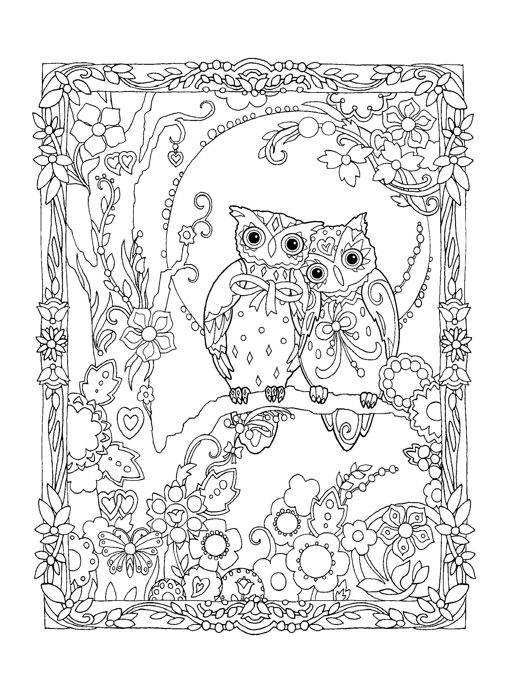 pinmelanie casino on eulen  owl coloring pages