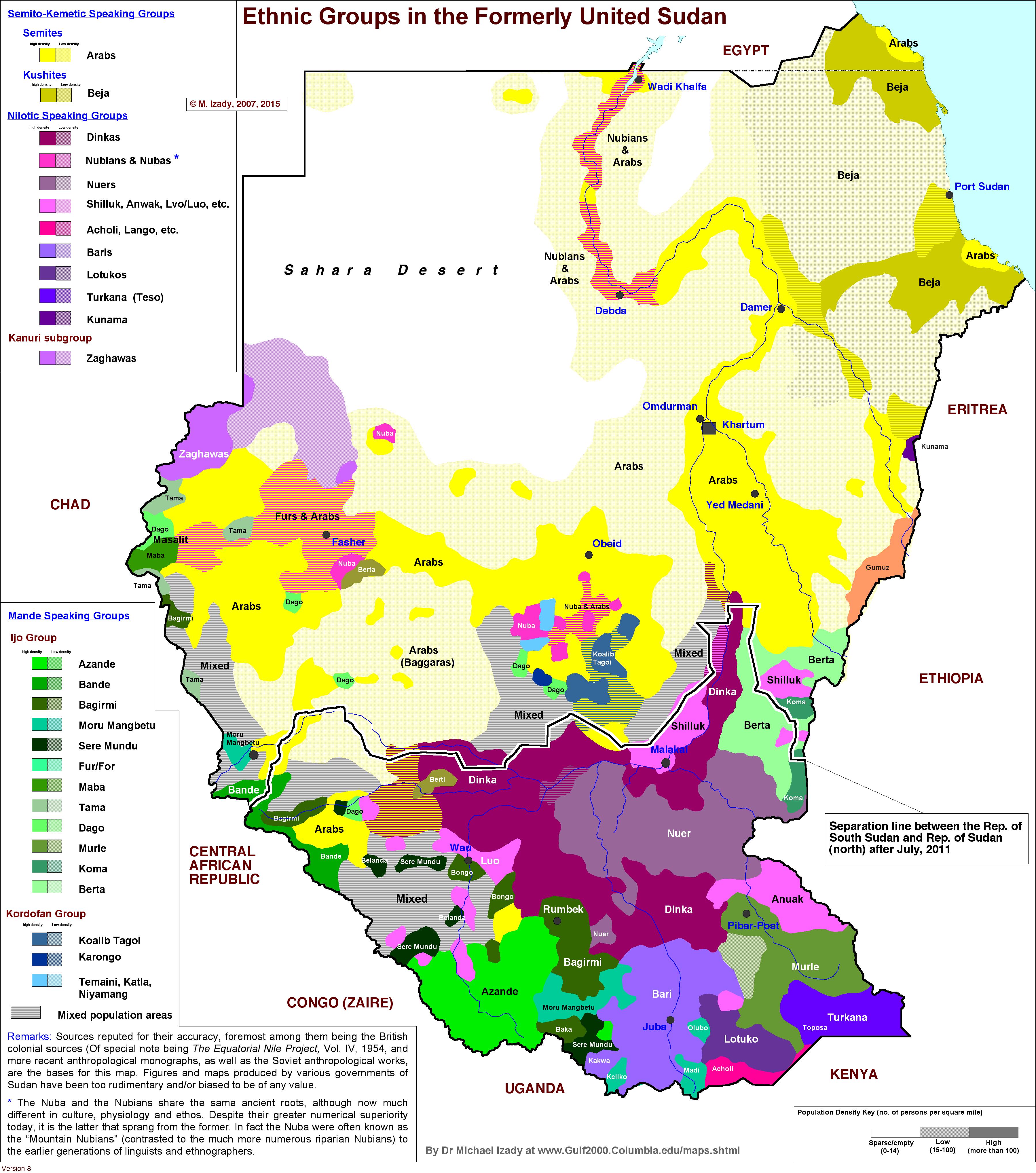 Ethnic map of Sudan and South Sudan | AP HUG UNIT 3 CULTURE ...