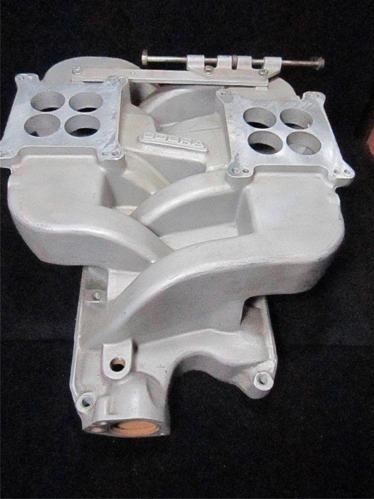 289 302 Ford COBRA Edelbrock 2x4 Holley Cross Ram Intake