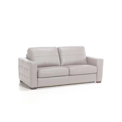 Wade Logan Wombwell Genuine Leather Sofa Genuine Leather Sofa Sofa Bed Sofa
