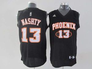 4f9d16ed283 nba jerseys phoenix suns 13 steve nash nashty black fashion jerseys