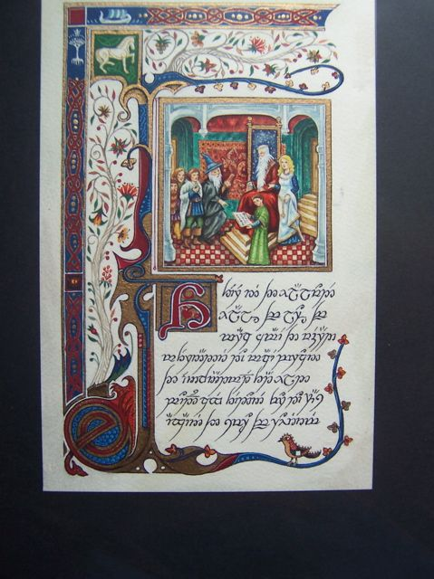 The Lord Of The Rings As A Medieval Manuscript With The Lettering