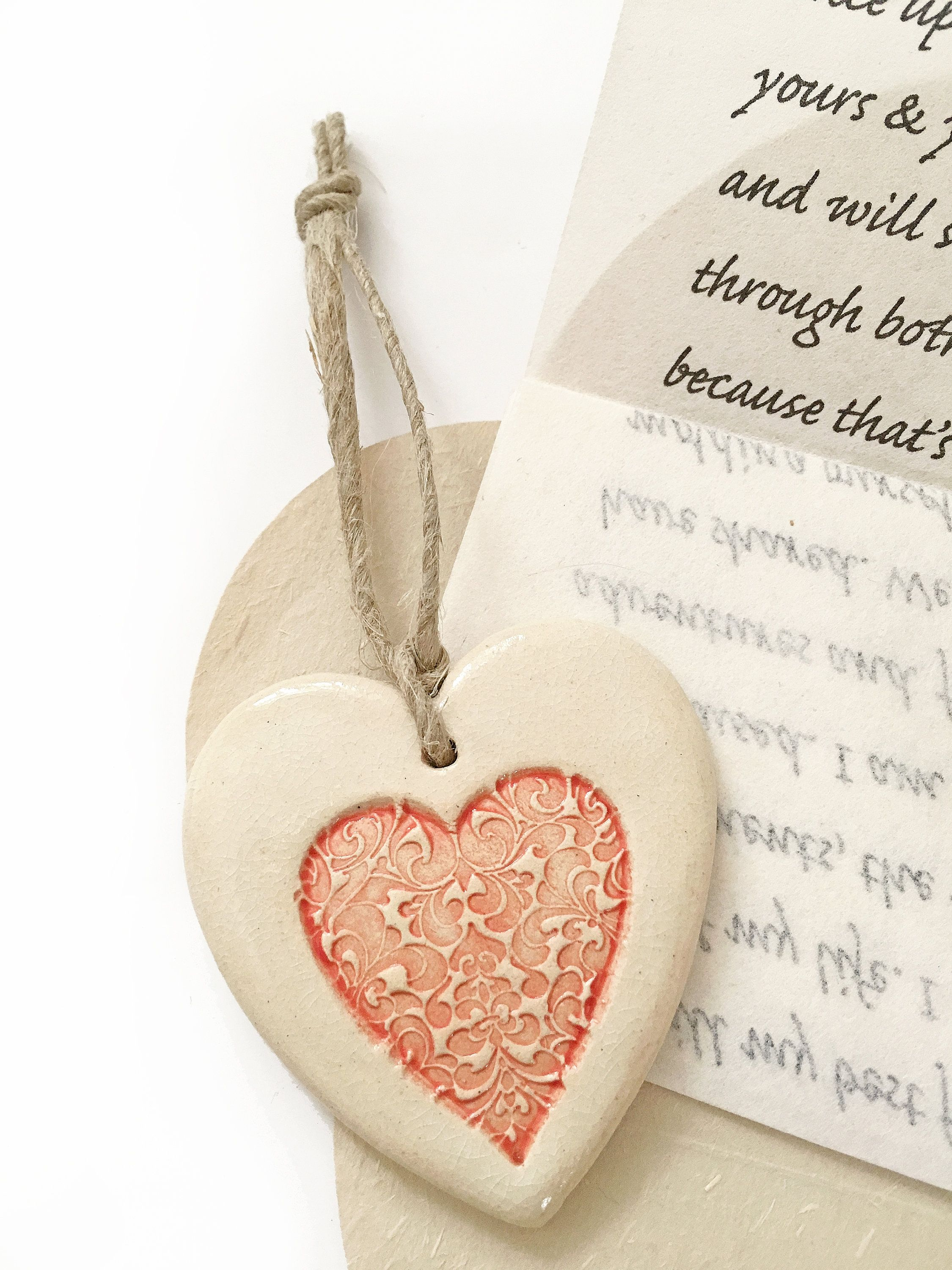 Meaningful 1 Year Anniversary Gift For Wife Who Has It All Sentimental Anniversary Gift For Girlfriend Love Letter Ceramic Heart Ornament In 2020 1 Year Anniversary Gifts Girlfriend Gifts Anniversary Gifts For Wife