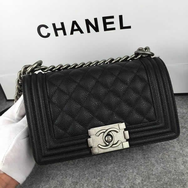 53a4643615fa Chanel Small Boy Flap in Black Caviar Aged RHW A67085